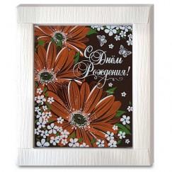 """Шоколадная открытка """"Герберы"""""""