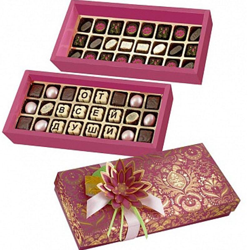 Составить подарок из шоколада