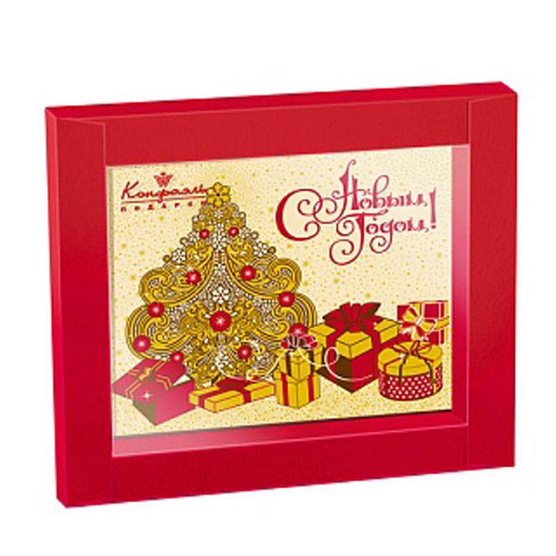 """Шоколадная открытка """"С Новым годом"""""""